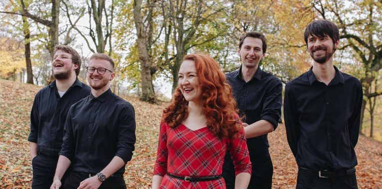 The Band looking Happy in Autumn